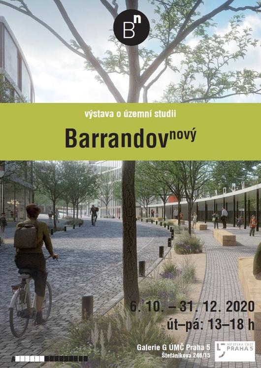 Pozvánka na vernisáž výstavy územní studie Barrandov nový
