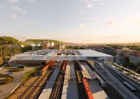 Představení nového dopravního terminálu Smíchov