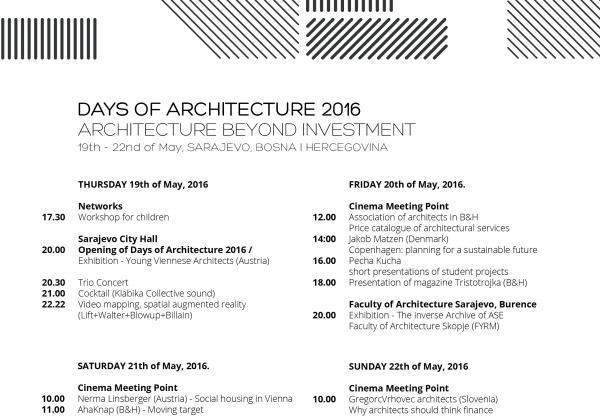 Jarda Wertig na Dnech architektury v Sarajevu